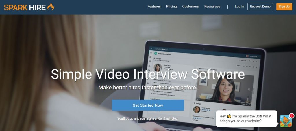 Video Interview software sparkhire