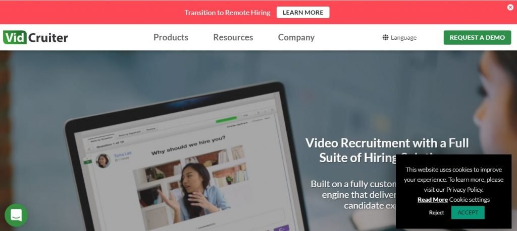 Video Interview tool VidCruiter